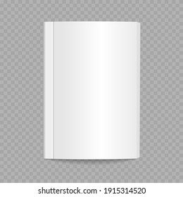 Mockup template is ready for your design. Blank flying magazine cover, book, booklet, brochure. Two realistic blank books can be used for promo, catalogs, brochures, magazines. Vector illustration.