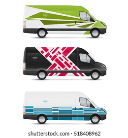 Mockup white bus. Set of design templates for transport. Branding for advertising, business and corporate identity.