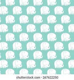 Mod Baby Elephants Pattern