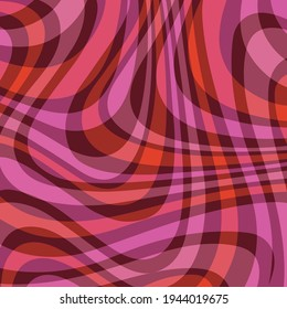 mod pink red ornage wavy abstract plaid vector background pattern