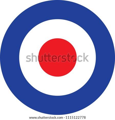 a4cb189baf7 Mod Target Raf Roundel Stock Vector (Royalty Free) 1115122778 ...