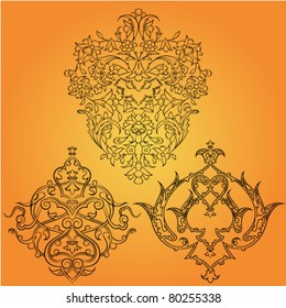 model persian round pattern. vector