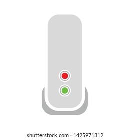 modem icon. flat illustration of modem vector icon for web