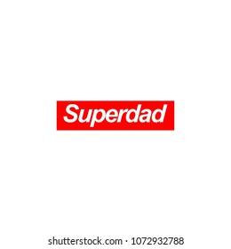 Moder style letter superdad logo typography