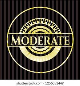 Moderate golden emblem or badge