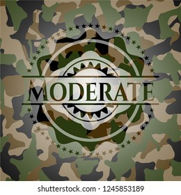 Moderate on camo texture