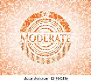 Moderate orange mosaic emblem