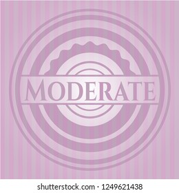 Moderate pink emblem