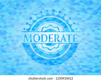 Moderate realistic sky blue mosaic emblem