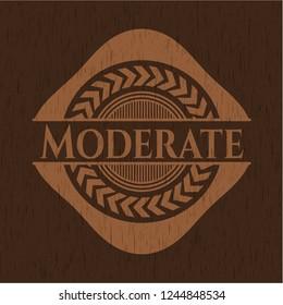 Moderate retro style wood emblem