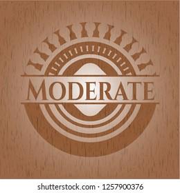 Moderate wood emblem. Retro