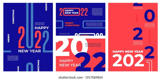 Modern 2022 brochures. Happy 22 new year, calendar cover with numbers decoration concept. Greeting cards, corporate banners recent vector design
