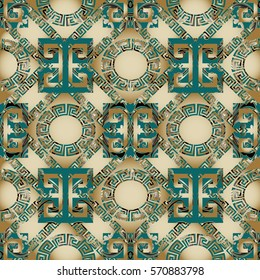 Modern 3d geometric seamless pattern. Abstract luxury background. Elegance wallpaper with vintage antique decorative and geometrical ornaments.