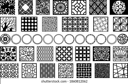 Modern 3D models and vector files wall panel. | cnc file, laser cutting | Dxf, Svg, Max, Cdr, Eps, FBX, DWG, AI, 3DS | Set 105