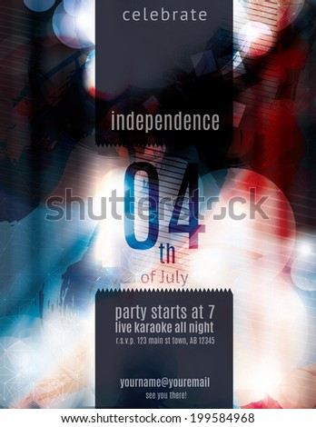 modern 4th july grunge flyer template stock vector royalty free