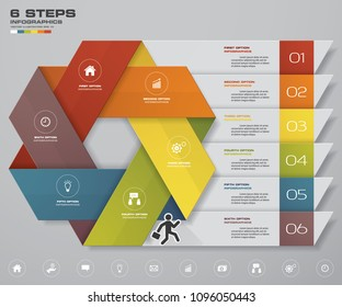 Modern 6 options presentation business infographics template. EPS 10.