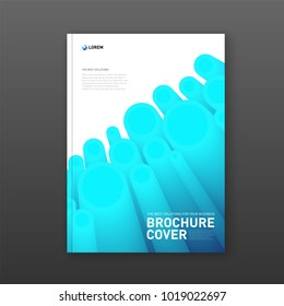 Modern abstarct geomtric colorful brochure cover. Futuristic gradient 3d-shapes.