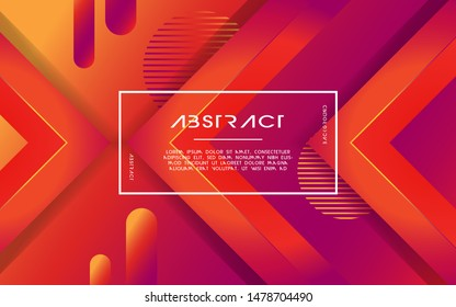 modern abstract 3d triangle gradient background with line and circle. vector illustration.