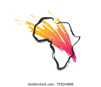 Modern Abstract Africa Business and Foundation Logo