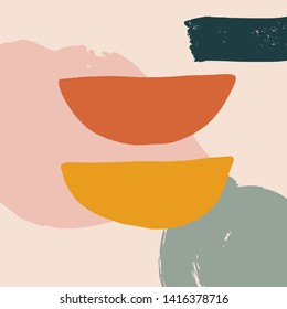 Modern abstract art. Scandinavian style print. Nordic design for interior and other. Vector EPS clip art