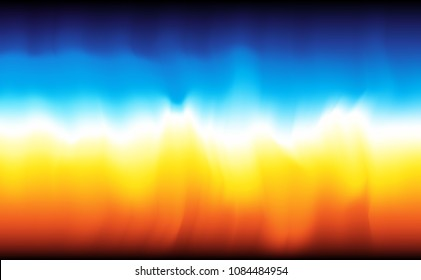 Modern abstract background fire and wate. Vector backdrop.