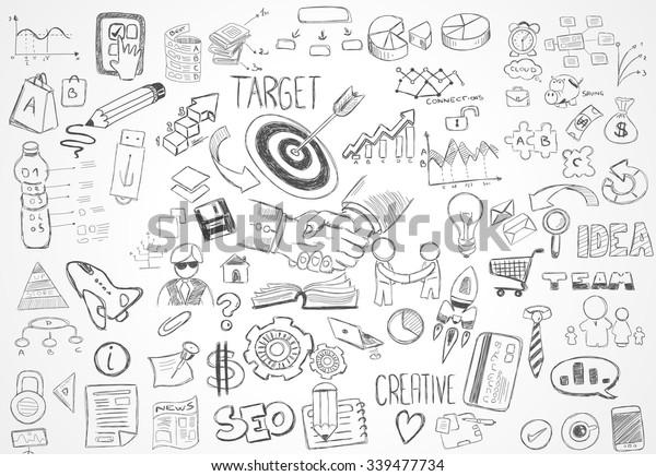 Moderner Abstrakter Hintergrund Mit Handgezeichneten Doodle