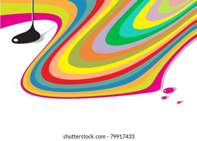 modern abstract background - pouring colors motive