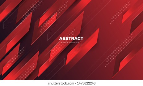 Modern Abstract Background With Red Composition. background, banner, poster ,. Vector EPS 10