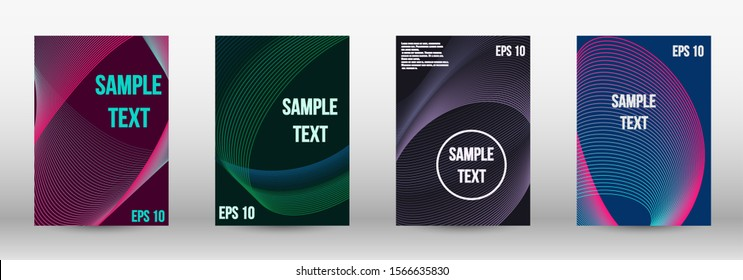 Modern abstract background. A set of modern abstract oblong objects from vector abstract lines. Wave lines.Striped background.  Trendy geometric patterns. EPS10 Vector Design.