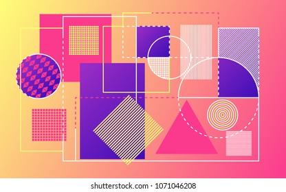 Modern abstract background. Trendy geometric shapes backdrop. Bright design for website, presentation, poster or banner. Vector illustration.