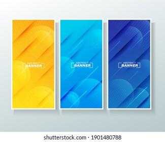 Modern abstract background vertical banner set.