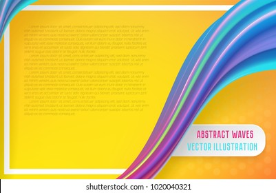 Modern abstract background with waves and lines. Liquid colorful waves. Fresh and bright background. Vector illustration.