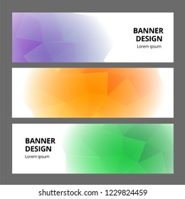 Modern abstract banner background template design. Banner set