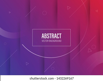 modern abstract banner background template with fluid paper cut effect and vibrant color - vector