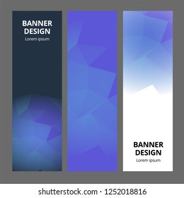 Modern abstract banner polygonal background template design. Banner set