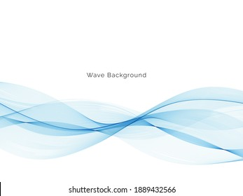 Modern abstract blue wave background