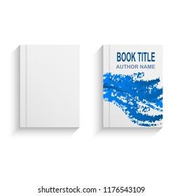 Modern abstract book cover design template, stock vector