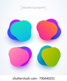 Modern abstract bubbles collection. Design and logo elements