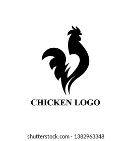 modern abstract chicken cock rooster logo design inspiration