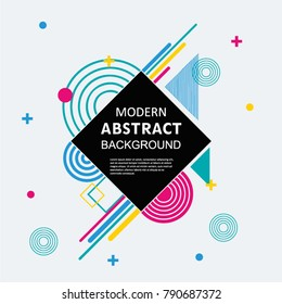 Modern abstract circle geometric pattern design and background with badge. Use for modern design, poster, cover, template, decorated, brochure, flyer.