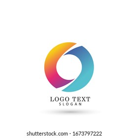 Modern Abstract Circle Logo. Symbol & Icon Vector Template.