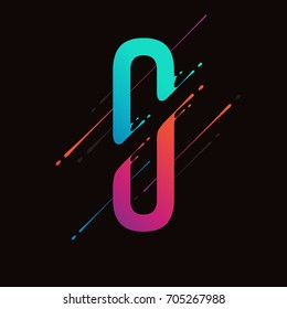 Modern abstract colorful number. Dynamic liquid ink splashes number. Vector design element for your art. Number 0