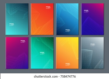 ?Building modern abstract composition. Text frame surface. brochure cover design. Title sheet model set. Front page font. vector design.