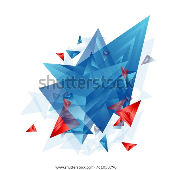 Modern Abstract Cover Background Cool Triangle Stock