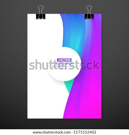 Modern Abstract Cover Cool Gradient Waves Stock Vector