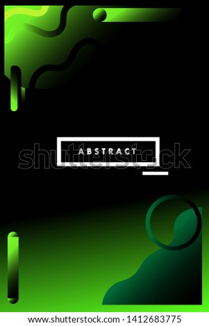 Modern Abstract Cover Cool Gradient Shapes Royalty Free