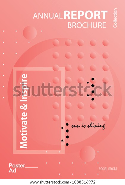Modern Abstract Cover Cool Gradient Shape Stock Vector