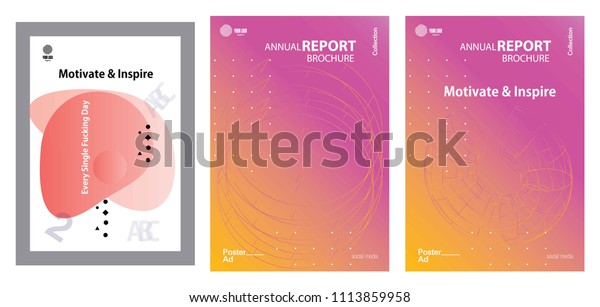 Modern Abstract Cover Cool Gradient Shape Stock Image