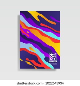 Modern abstract cover. Cool trendy gradient shapes. Vector illustration