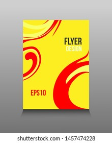 Modern abstract design of colored bright paints. Splash trends paints. For design presentations, print, flyer, business cards, invitations, calendars, sites, packaging and cover